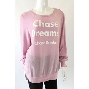 Wildfox Chase Dreams Drinks Baggy Beach Jumper L ✨